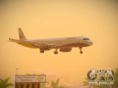 Airbus A321-232 Monarch Airlines für GTA San Andreas Unteransicht