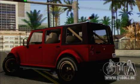 Canis Mesa pour GTA San Andreas laissé vue