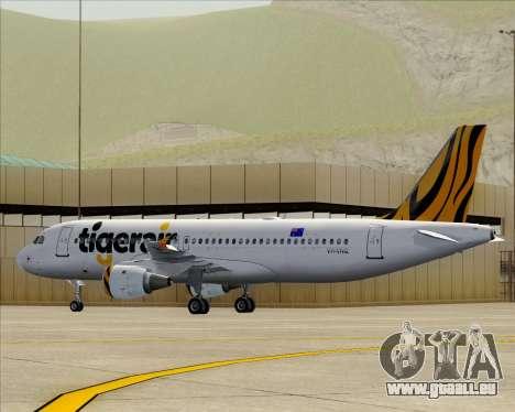 Airbus A320-200 Tigerair Australia pour GTA San Andreas moteur