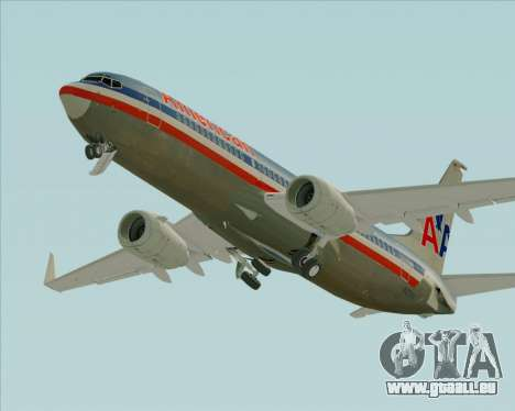 Boeing 737-800 American Airlines für GTA San Andreas obere Ansicht