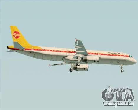 Airbus A321-200 Continental Airlines für GTA San Andreas Seitenansicht