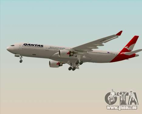 Airbus A330-300 Qantas (New Colors) pour GTA San Andreas vue intérieure