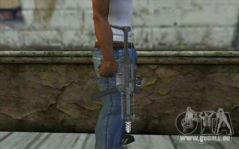 Silver MP5 pour GTA San Andreas troisième écran