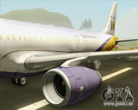 Airbus A321-200 Monarch Airlines für GTA San Andreas Motor