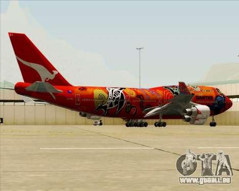Boeing 747-400ER Qantas (Wunala Dreaming) für GTA San Andreas Räder