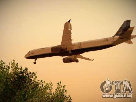 Airbus A321-232 jetBlue Do-be-do-be-blue für GTA San Andreas Rückansicht