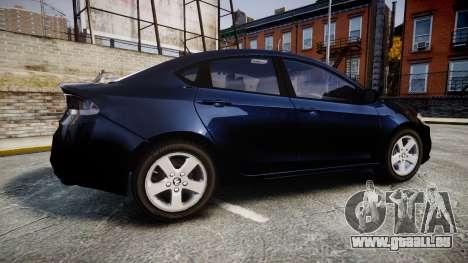 Dodge Dart 2013 Undercover [ELS] pour GTA 4 est une gauche