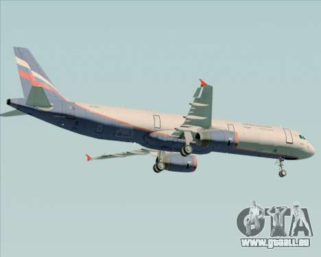 Airbus A321-200 Aeroflot - Russian Airlines für GTA San Andreas Rückansicht