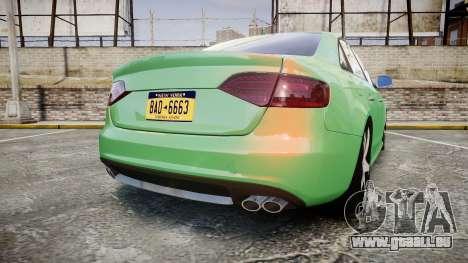 Audi S4 2010 FF Edition pour GTA 4 Vue arrière de la gauche