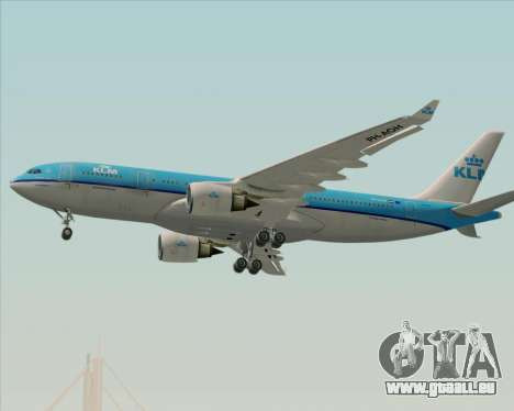 Airbus A330-200 KLM - Royal Dutch Airlines für GTA San Andreas obere Ansicht
