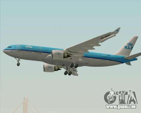 Airbus A330-200 KLM - Royal Dutch Airlines pour GTA San Andreas vue de dessus