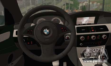 BMW M5 Stanced für GTA San Andreas zurück linke Ansicht