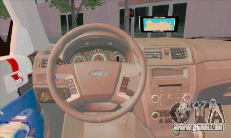 Ford Fusion NYPD v2.0 pour GTA San Andreas sur la vue arrière gauche