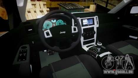 Jeep Grand Cherokee SRT8 stock pour GTA 4 Vue arrière