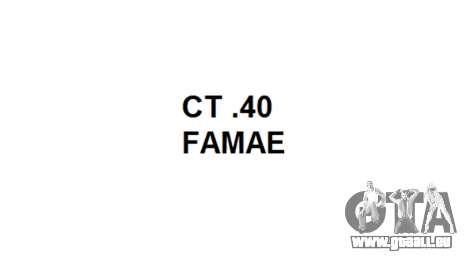 Machine FAMAE CT-40 icon1 pour GTA 4 troisième écran