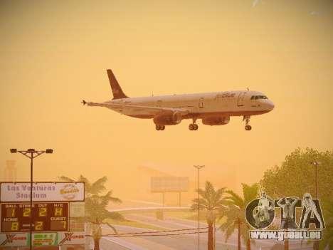 Airbus A321-232 jetBlue Batty Blue für GTA San Andreas Innenansicht