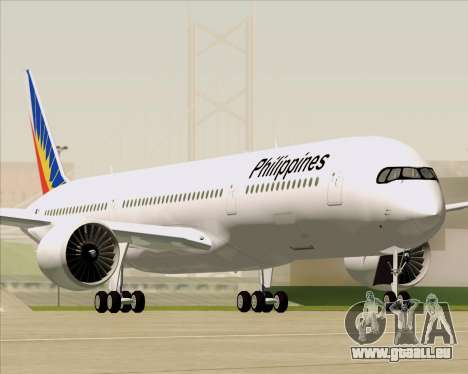 Airbus A350-900 Philippine Airlines pour GTA San Andreas moteur