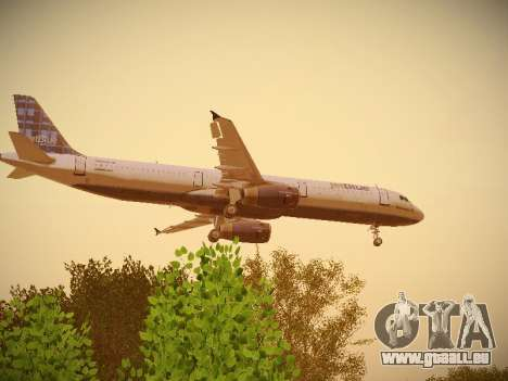 Airbus A321-232 jetBlue Whole Lotta Blue für GTA San Andreas Innenansicht