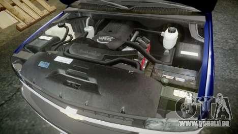 Chevrolet Suburban Undercover 2003 Grey Rims pour GTA 4 est une vue de l'intérieur