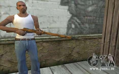 Mosin-v9 pour GTA San Andreas troisième écran