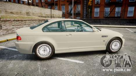 BMW M3 E46 2001 Tuned Wheel White für GTA 4 linke Ansicht