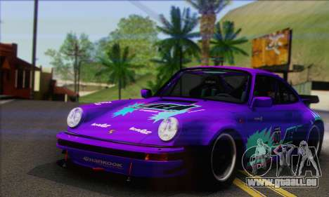 Porsche 930 Turbo Look 1985 Tunable für GTA San Andreas obere Ansicht