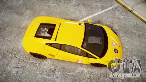 Lamborghini Gallardo 2013 Honoka Kousaka für GTA 4 rechte Ansicht