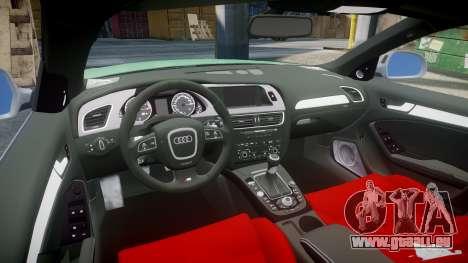 Audi S4 2010 FF Edition pour GTA 4 Vue arrière