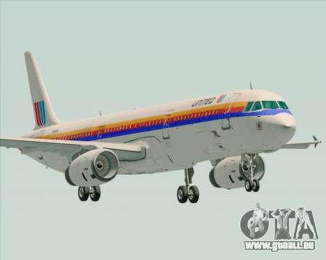 Airbus A321-200 United Airlines für GTA San Andreas
