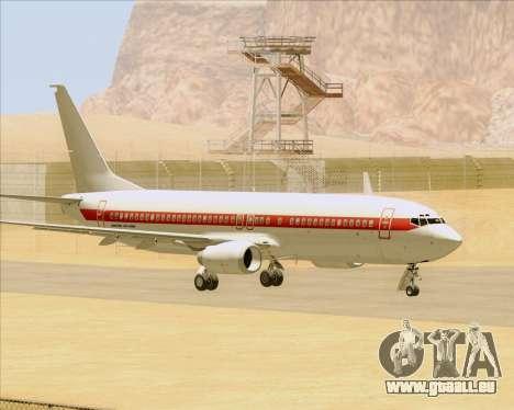 Boeing 737-800 EG&G - Janet für GTA San Andreas Rückansicht