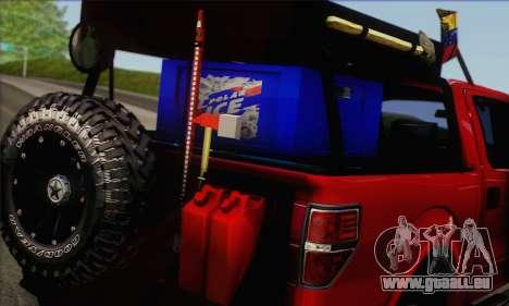 Ford F-150 2012 pour GTA San Andreas sur la vue arrière gauche