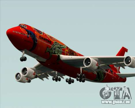 Boeing 747-400ER Qantas (Wunala Dreaming) für GTA San Andreas Innenansicht