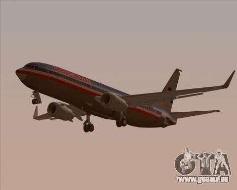 Boeing 737-800 American Airlines für GTA San Andreas Unteransicht