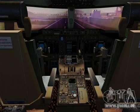 Boeing 747-400ER Qantas (Wunala Dreaming) für GTA San Andreas Innen