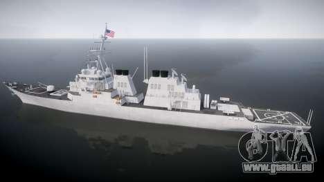 US Navy Destroyer Arleigh Burke für GTA 4 linke Ansicht