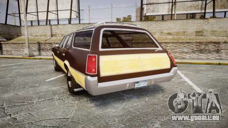 Oldsmobile Vista Cruiser 1972 Rims2 Tree5 für GTA 4 hinten links Ansicht