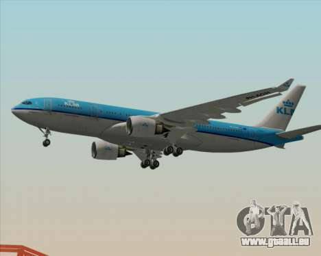 Airbus A330-200 KLM - Royal Dutch Airlines für GTA San Andreas zurück linke Ansicht