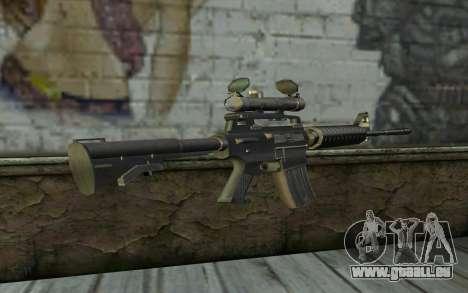 M4 from Hitman 2 pour GTA San Andreas deuxième écran