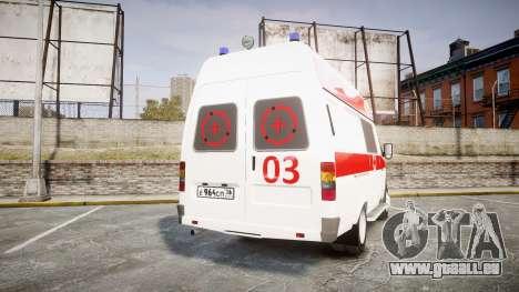 GAS-32214 Krankenwagen für GTA 4 hinten links Ansicht