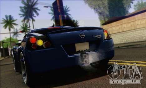 Opel Speedster für GTA San Andreas rechten Ansicht