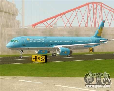 Airbus A321-200 Vietnam Airlines für GTA San Andreas obere Ansicht