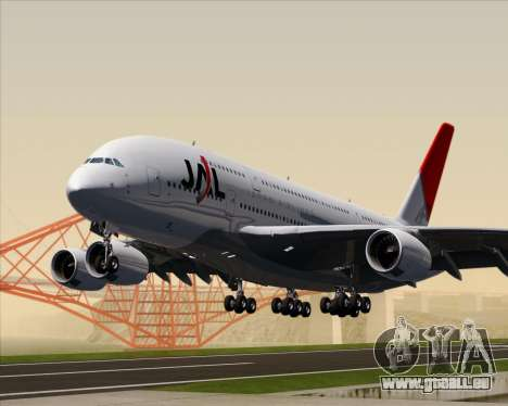 Airbus A380-800 Japan Airlines (JAL) für GTA San Andreas linke Ansicht