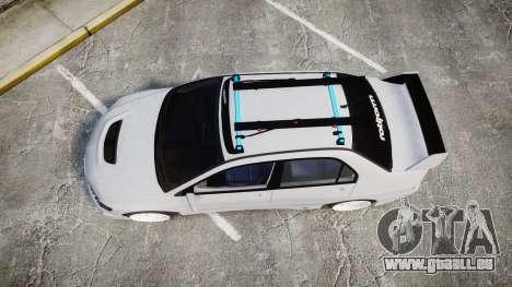 Mitsubishi Lancer Evolution VIII Stance pour GTA 4 est un droit