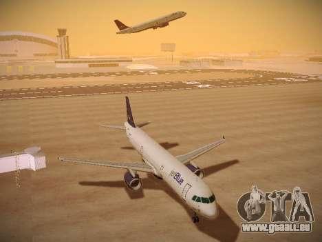 Airbus A321-232 jetBlue Batty Blue pour GTA San Andreas vue arrière
