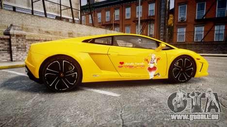 Lamborghini Gallardo 2013 HDD Honoka Kousaka für GTA 4 linke Ansicht