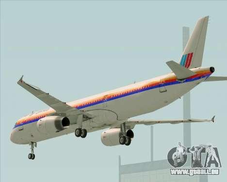 Airbus A321-200 United Airlines für GTA San Andreas Seitenansicht