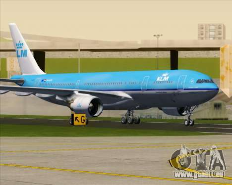 Airbus A330-200 KLM - Royal Dutch Airlines pour GTA San Andreas vue de dessous