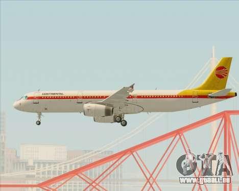Airbus A321-200 Continental Airlines für GTA San Andreas Unteransicht