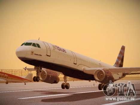 Airbus A321-232 jetBlue Airways pour GTA San Andreas laissé vue
