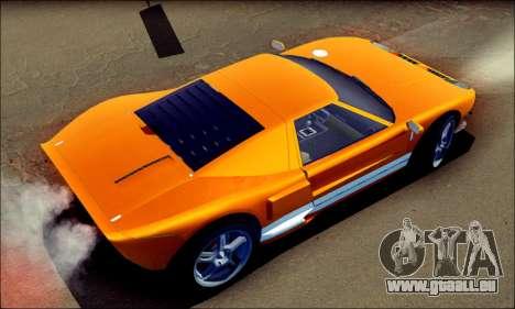 Vapid Bullet GTA 5 pour GTA San Andreas sur la vue arrière gauche